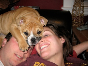 She used to love laying on our heads.